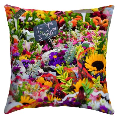 Eslick Flower Market Outdoor Throw Pillow