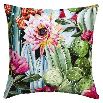 Perdomo Blooming Cactus Outdoor Throw Pillow