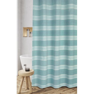 Jarmon Shower Curtain Color: Blue
