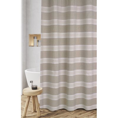 Jarmon Shower Curtain Color: Taupe