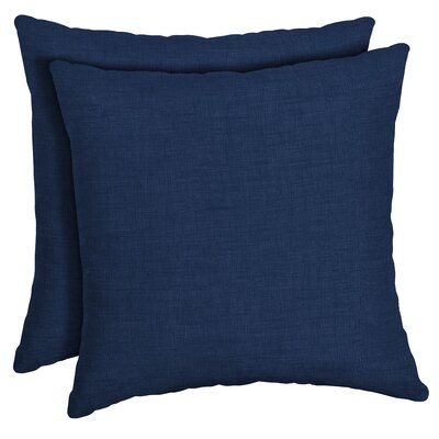 Canipe Texture Outdoor Throw Pillow Color: Blue