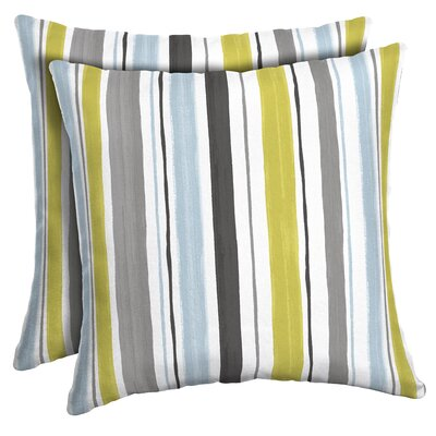 Cronan Striped Outdoor Throw Pillow
