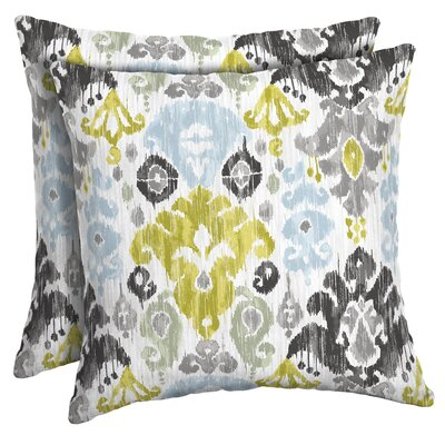 Pereda Ikat Outdoor Throw Pillow