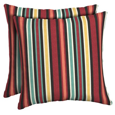 Espana Striped Outdoor Throw Pillow