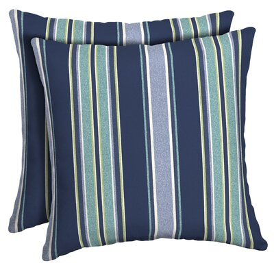 Croom Striped Outdoor Throw Pillow