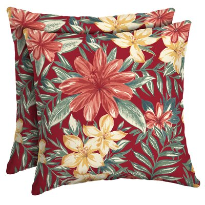 Kitterman Tropical Outdoor Throw Pillow