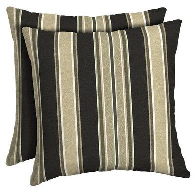 Espada Striped Reversible Outdoor Throw Pillow