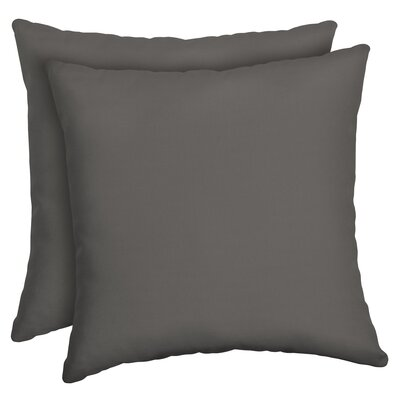 Cangelosi Texture Outdoor Throw Pillow Color: Gray