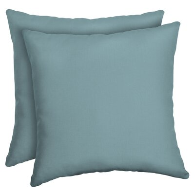 Cangelosi Texture Outdoor Throw Pillow Color: Blue/Green