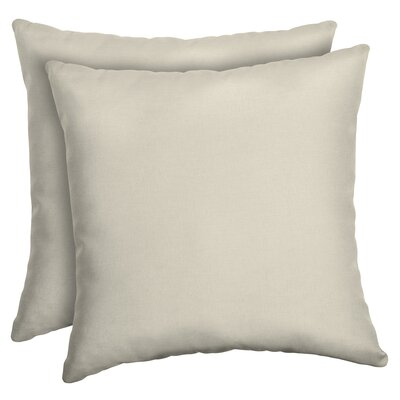 Cangelosi Texture Outdoor Throw Pillow Color: Cream