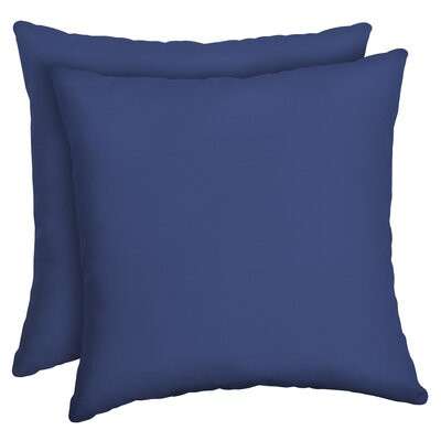 Cangelosi Texture Outdoor Throw Pillow Color: Blue