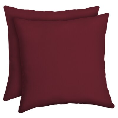 Cangelosi Texture Outdoor Throw Pillow Color: Red