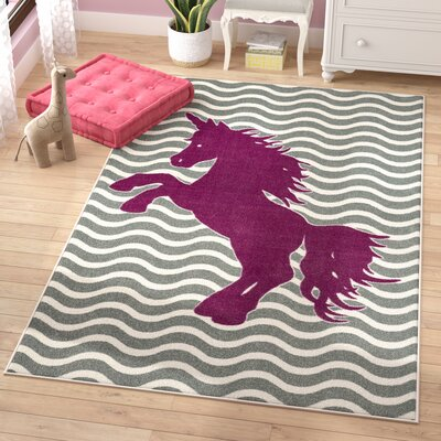 Brynn Majestic Unicorn Royal Area Rug