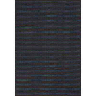 Seattle Hand-Woven Black/Cobalt Indoor/Outdoor Area Rug Rug Size: Rectangle 4 x 6