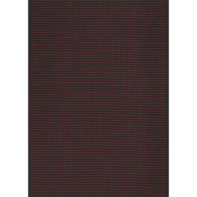 Seattle Hand-Woven Black/Magenta Indoor/Outdoor Area Rug Rug Size: Rectangle 4 x 6