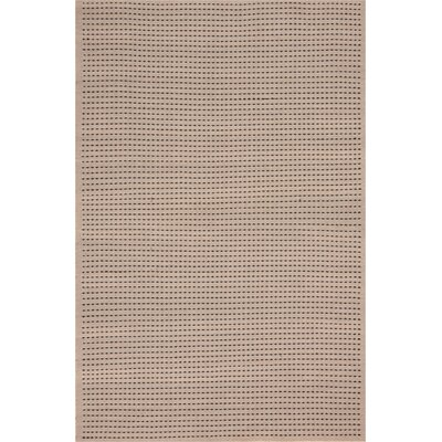 Seattle Hand-Woven Cream/Black Indoor/Outdoor Area Rug Rug Size: Rectangle 5 x 7