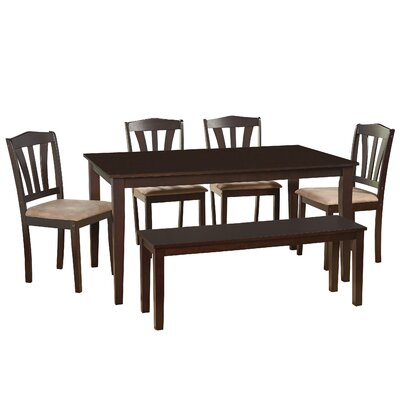 Hysell 6 Piece Dining Set Color: Espresso