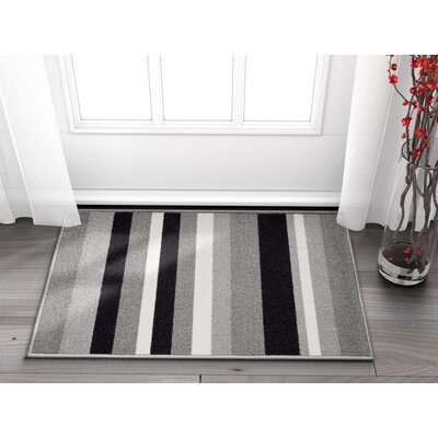 Covey Stripes Gray/Black Area Rug Rug Size: Rectangle 2 x 3
