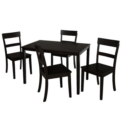 Beacher 5 Piece Dining Set Color: Black