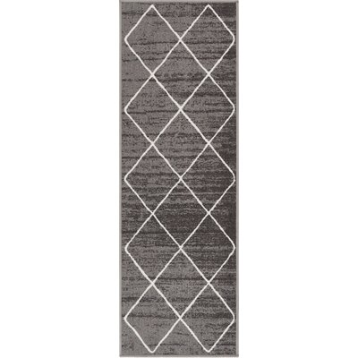 Franck Moroccan Trellis Gray Area Rug Rug Size: Runner 18 x 5