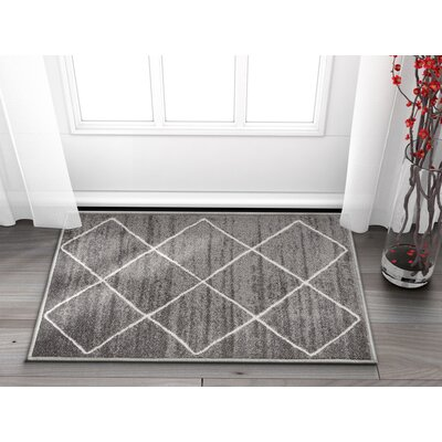 Franck Moroccan Trellis Gray Area Rug Rug Size: Rectangle 2 x 3