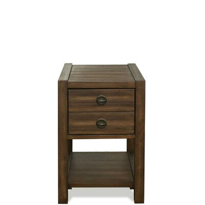Wootton End Table with Storage Color: Brushed Acacia