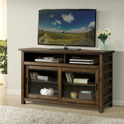 Wootton TV Stand Color: Brushed Acacia, Width of TV Stand: 64