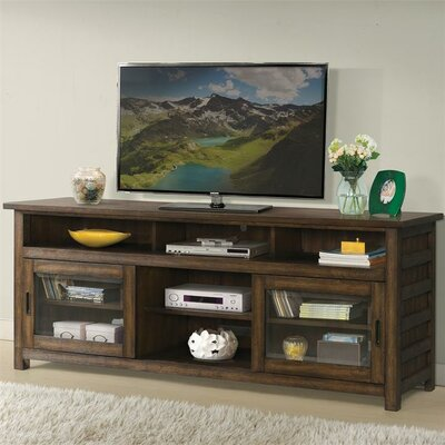 Wootton 74 TV Stand Color: Brushed Acacia