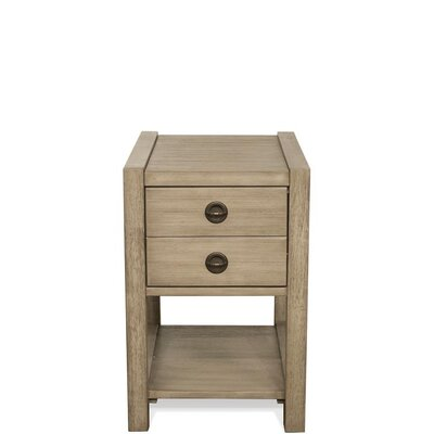 Wootton End Table with Storage Color: Sun-Drenched Acacia