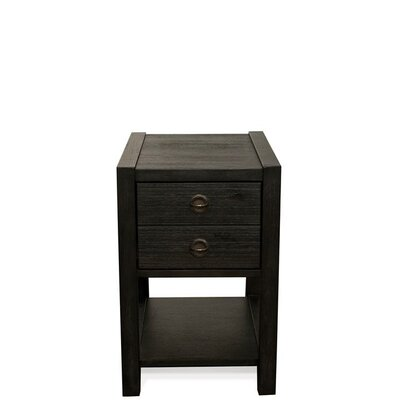 Wootton End Table with Storage Color: Ebonized Acacia