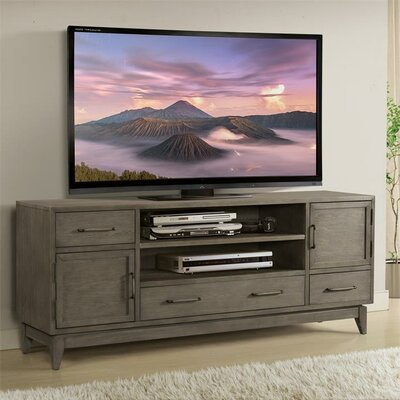 Workman 74 TV Stand Color: Gray Wash