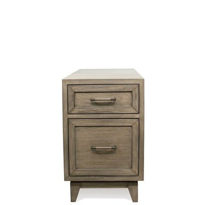 Workman End Table with Storage Color: Gray Wash