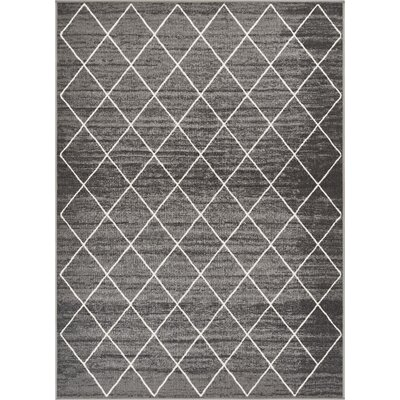Franck Moroccan Trellis Gray Area Rug Rug Size: Rectangle 5 x 7