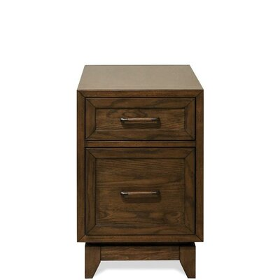 Workman End Table with Storage Color: Plymouth Brown Oak