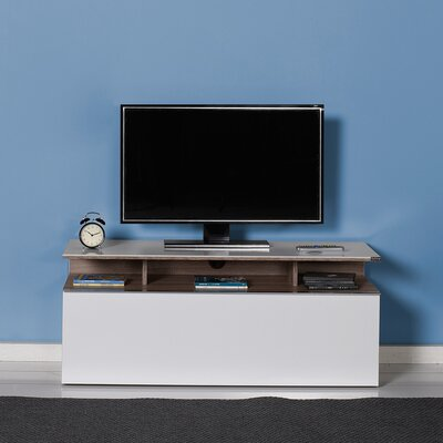 Esman 46 TV Stand Color: Latte / High Gloss White