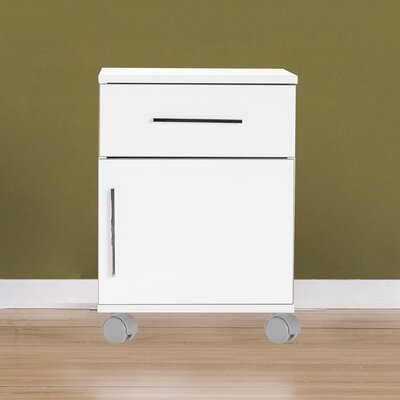 OToole 1 Drawer Nightstand Color: High Gloss White
