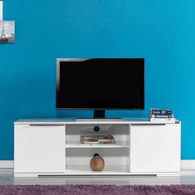 Matthiopoulos 55 TV Stand Color: High Gloss White