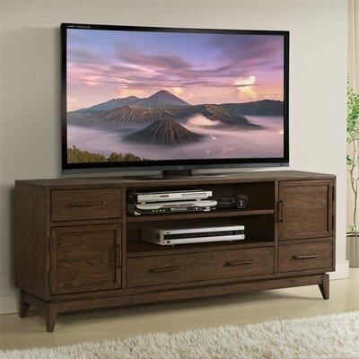 Workman 74 TV Stand Color: Plymouth Brown Oak