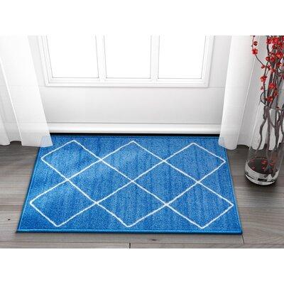 Franck Moroccan Trellis Blue Area Rug Rug Size: Rectangle 2 x 3