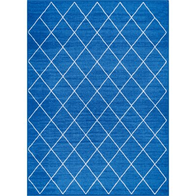 Franck Moroccan Trellis Blue Area Rug Rug Size: Rectangle 33 x 47