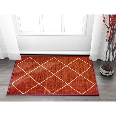 Franck Moroccan Trellis Red Area Rug Rug Size: Rectangle 2 x 3