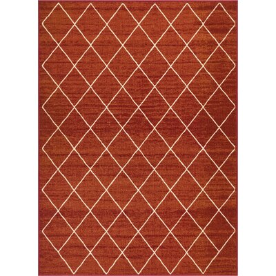Franck Moroccan Trellis Red Area Rug Rug Size: Rectangle 710 x 910