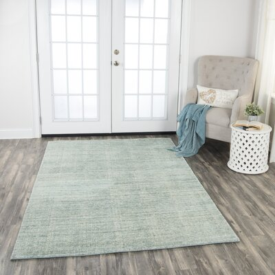 Hadley Hand-Woven Dark Aqua Area Rug Rug Size: Rectangle 8 x 10