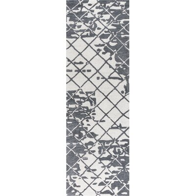 Lovelace Hand-Woven Wool Dark Gray Area Rug Rug Size: Runner 2'6