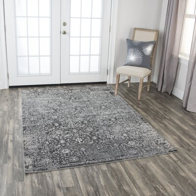 Haigh Power-Loom Brown Area Rug Rug Size: Rectangle 8 x 10