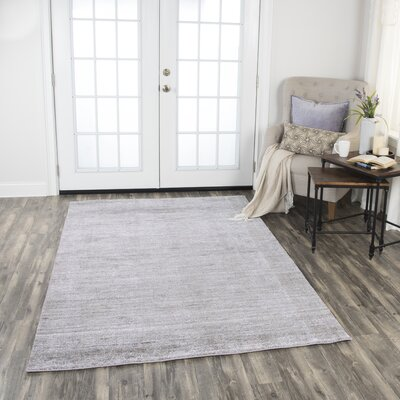 Hadley Shag Hand-Woven Light Gray Area Rug Rug Size: Rectangle 8 x 10