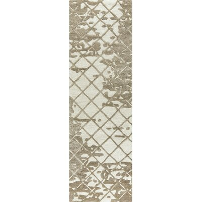 Lovelace Hand-Woven Wool Brown Area Rug Rug Size: Runner 26 x 8