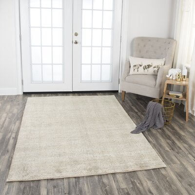 Hadley Hand-Woven Dark Beige Area Rug Rug Size: Rectangle 8 x 10