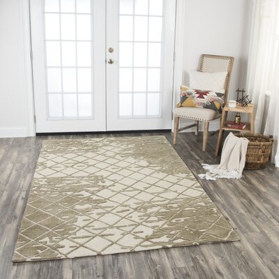 Lovelace Hand-Woven Wool Brown Area Rug Rug Size: Rectangle 8' x 10'