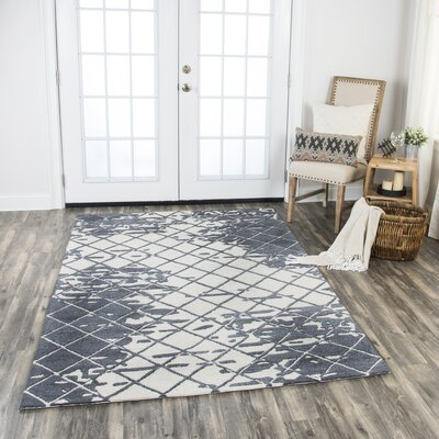 Lovelace Hand-Woven Wool Dark Gray Area Rug Rug Size: Rectangle 9 x 12